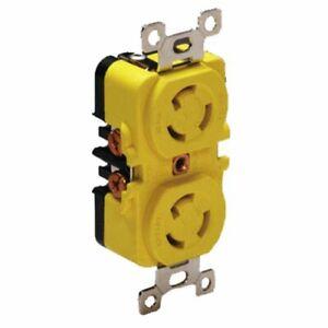 Marinco 4700CR Marine Electrical Receptacle (15-Amp Locking, 125-Volt, Female)