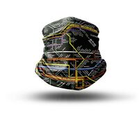 Washable Fabric Face Cover Neck Gaiter New York City Subway Map Design EU Made