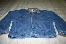 Vintage Tommy Hilfiger Jean Denim Trucker Jacket Button Down Size L Crest