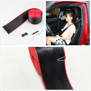 3.6m Double Colors Black/Red Safety Strip Seat Belt Fit For Car Seat Stroller