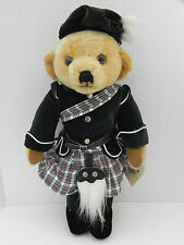 Merrythought Scottish Highland Bear Jacket,Kilt and Hat - Pure Mohair -Tags - Uk