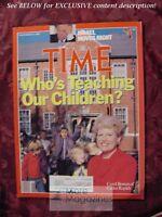 TIME Magazine November 14 1988 Nov 11/14/88 EDUCATION TEACHING ROBERT STEMPEL GM