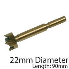 PRO 22mm titanio rivestito Forstner Bit -- base piatta Foro Sega / Core TRAPANO TAGLIERINA