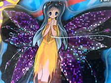 NIP FAIRY 4-Inch Mini Microlite Mylar Kite SkyTails Purple Wing PIXIE Black Hair