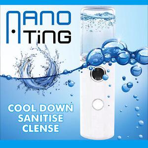 NanoTing Portable Facial Mini Mister - Face Mist Sprayer - Rechargeable Diffuser