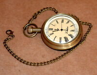 Antique vintage maritime brass pocket watch and telegraph collectible good gift