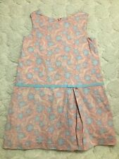 Girls Very Cute Size 5 Pink & Blue Seahores Dress By Vineyard Vines