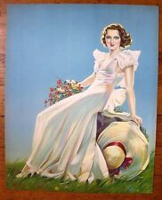 1935 Pin Up Girl Picture Summertime Alberto Vargas Has Old Style Signature M