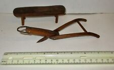 2 Hand Made Primitive Small Miniature Pieces Bench & Plow Doll House?