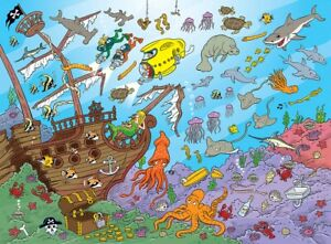 Jigsaw puzzle Seek and Find 101 Things Underwater 101 Piece NEW