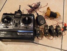 Vintage Futaba CONQUEST FP-T4NL AM Transmitter/Receiver with Servos Great
