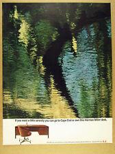 1960 Herman Miller Teak Desk chair color photo vintage print Ad