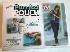 2 Pack Purrfect Pouch Comfy Cat Carrier Grooming Sack Teal 1 Nip (Other)