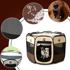 AU Large Pet Kennel Cage Oxford Crate Cat Dog Playpen Tent Puppy Exercise Fence