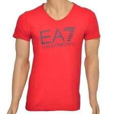 V Neck Short Sleeve Loose Fit ARMANI T-Shirts for Men