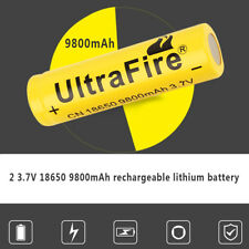 Premium 18650 Battery Li-Ion Battery 2Pcs 9800mAh High Performance Rechargeable