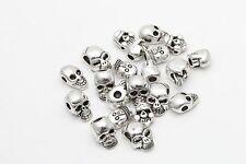Lots Mixed 40pcs Tibetan Silver Skull Spacer Beads Wholesale Jewelry Making DIY