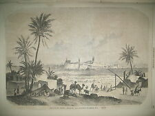 LIBAN VUE DE TRIPOLI GUERRIERS MONTENEGRO CETTIGNE CARNAVAL ANVERS GRAVURES 1860