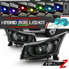 ^Supreme RGB LED Bulb^ Black Housing Projector Headlight for 11-15 Chevy Cruze