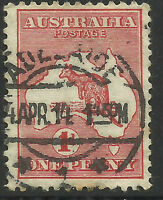 AUSTRALIA 1d ONE PENNY RED KANGAROO Used (No 3)