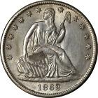 1862-S Seated Half Dollar Civil War Date Nice Unc Details Bright White