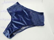 Victoria's Secret DREAM ANGELS Blue Lace Velvet High Waist CHEEKY SMALL NWT