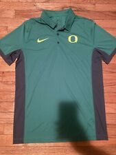 Nike Oregon Ducks Dri-Fit Polo Shirt Men's Size Medium Green