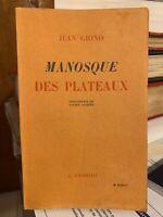 🌓 Jean GIONO Manosque des plateaux Charlot 1941 frontispice Lucien Jacques