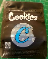 Cookies Black Mylar Bags x10 3.5g Heat sealable Smell Proof