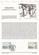 Document Philatélique Timbre 1er Jour : 18/04/ 1981 - Pissarro Sente du Chou