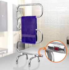 Portable Freestanding 5 Heated Towel Rail Electric Clothes Rack Warmer Bathroom