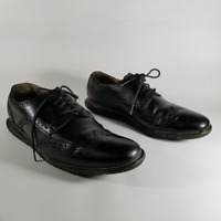 Cole Haan Grand OS Black Leather Brogue Wingtip Oxfords | Men's 8.5M | C13412