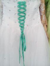 Lacet ruban VERT JADE / 3 mètres - satiné pour robe de mariée/soirée