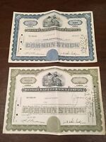 Lot of 2 WESTERN MARYLAND RAILWAY COMPANY Railroad Stock Certificates Dated 1917