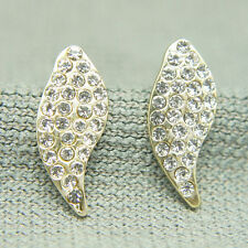14k Gold plated with Swarovski crystals beaded earrings