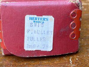 VINTAGE HERTER'S F-BULLET PULLER SW1C  IN BOX - RELOADING