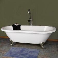 70-inch Dual End Acrylic Clawfoot Bathtub