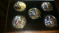 80th ANNIVERSARY BATMAN 24KT GOLD COIN SET! WORTH COLLECTION! MINT! BRAND NEW!