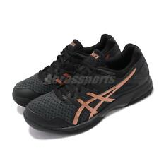 Asics Gel tareas 2 Negro Puro Bronce Mens Volleyball Zapatos 1071A037-002