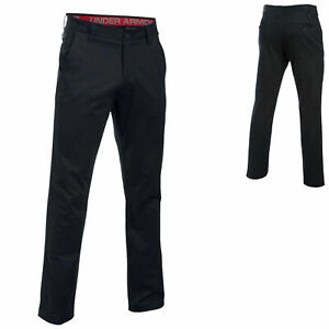 Under Armour UA Performance Taper Golf Chino Trouser Pant - Black - 34W /34L