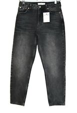 Topshop MOM High Waisted Tapered Black 90s Size 10 Jeans W28 L30