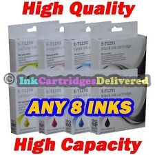 8 HQ Ink Cartridges T1291 T1292 T1293 T1294 (T1295) for EPSON Printers Non-OEM