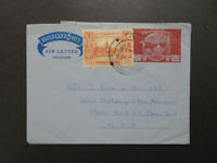 Burma 1958 Aerrogramme Used to USA - Z8482