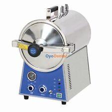Dental Medical High Pressure Steam Autoclave Sterilizer Stainless Steel 24L