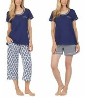 Carole Hochman Women's 3 Piece Pajama Set - Top, Short, and Capri Pant