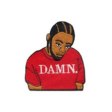 """Kendrick """"DAMN"""" Motif Iron On Embroidered Applique Patch"""
