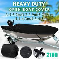 Waterproof Open Boat Cover Marine Grade Trailerable V-hull Fishing 3.5m - 4.5m