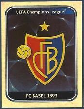 PANINI UEFA CHAMPIONS LEAGUE 2010-11- #311-BASEL TEAM BADGE-SILVER FOIL