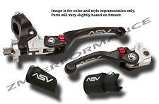 YAMAHA YZ 125 250 450F ASV F4 SERIES BLACK BRAKE AND CLUTCH LEVERS PAIR PACK KIT