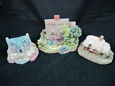 Lilliput Lane Miniature Cottages Inverlochie Hame Spring Bank Colman Set of 3